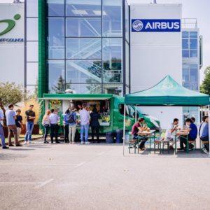 Food Truck devant AISC Airbus Blagnac