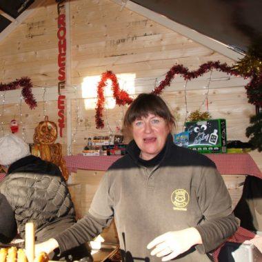 Ute Krause auf dem Weihnachtsmarkt Toulouse Blagnac
