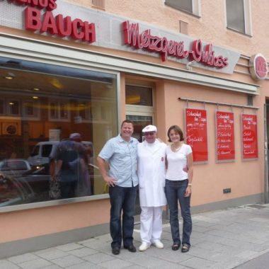 Fabian und Elodie Brillaud mit Magnus Bauch in München Hans'l & Bretz'l Frankreich