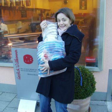 Elodie avec échatillons Bratwurst