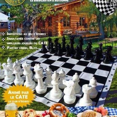 Soirée échecs au Biergarten 22 sept 2021